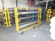 8 x 2.2m Cloth Roller Storage and Transport Racks